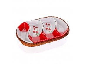 banquet red poppy servirovacie misky v kosiku 1full