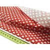 Bavlnená látka červená - Mini srdiečka 7 mm šírka 140 cm Bavlna 100%