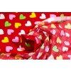 bavlnena latka farebne srdcia 140 cm 17853963