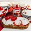 banquet red poppy servirovacie misky v kosiku 2full