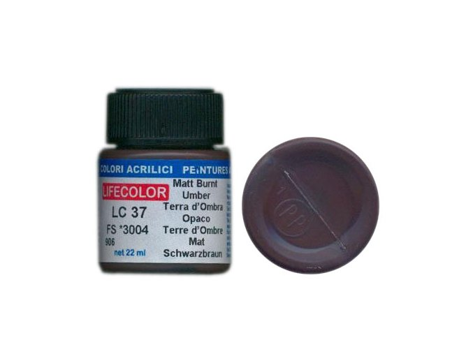 LifeColor LC37 basic matt burnt umber szín
