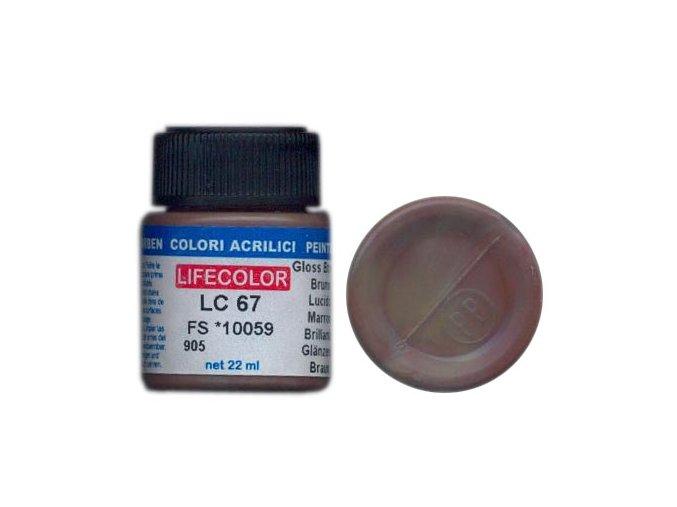 LifeColor LC67 basic gloss brown szín