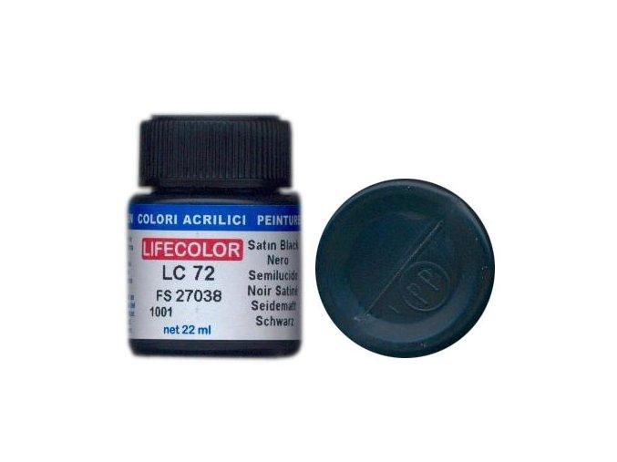 LifeColor LC72 basic gloss satin black szín