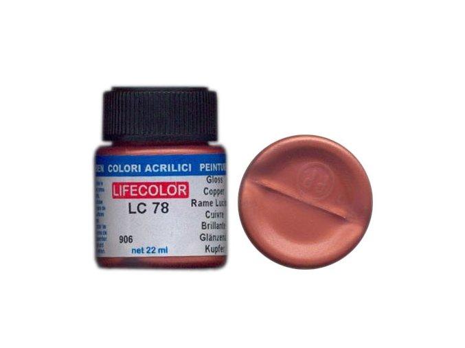 LifeColor LC78 basic gloss copper szín