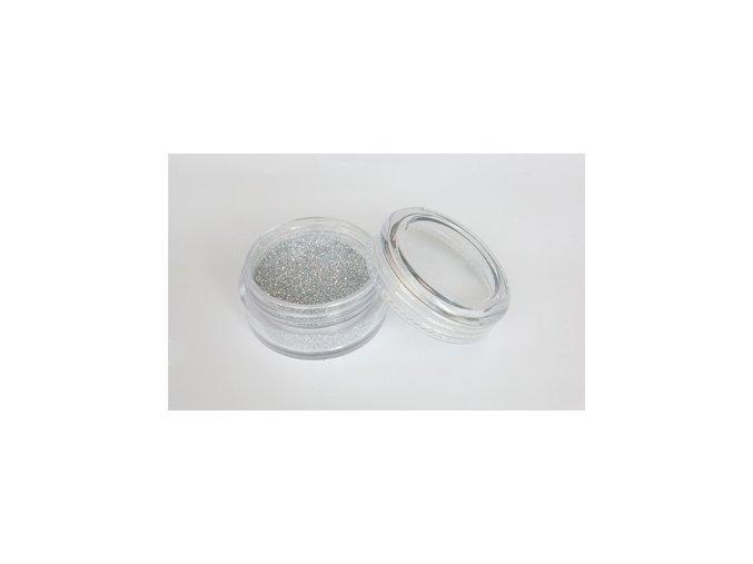 Fengda Glitter 1 / 128 csillogó por silver 10 ml