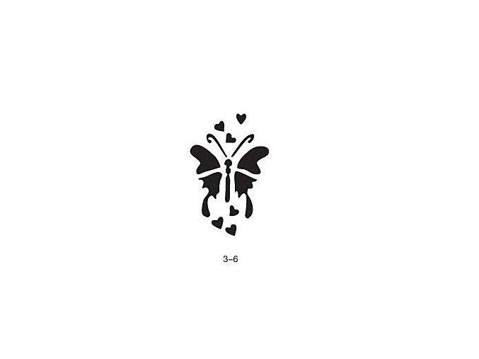 Sablon csillogó tetováláshoz Fengda 03-06