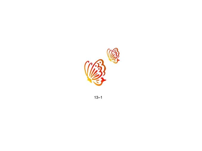 Sablon csillogó tetováláshoz Fengda  13-01