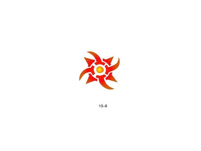 Sablon csillogó tetováláshoz Fengda  13-08