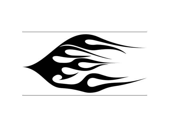 Airbrush sablon lángok/flames C043