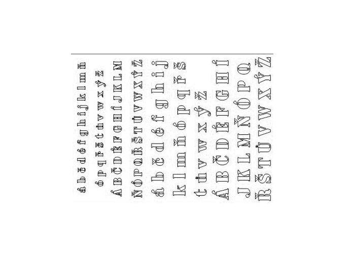 Airbrush sablon kis betűkkel D002