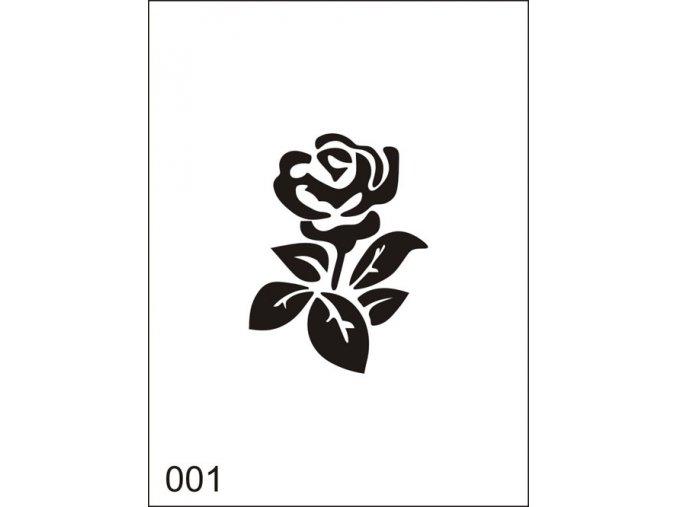 Airbrush tetoválási sablon egyetlen használatra M001