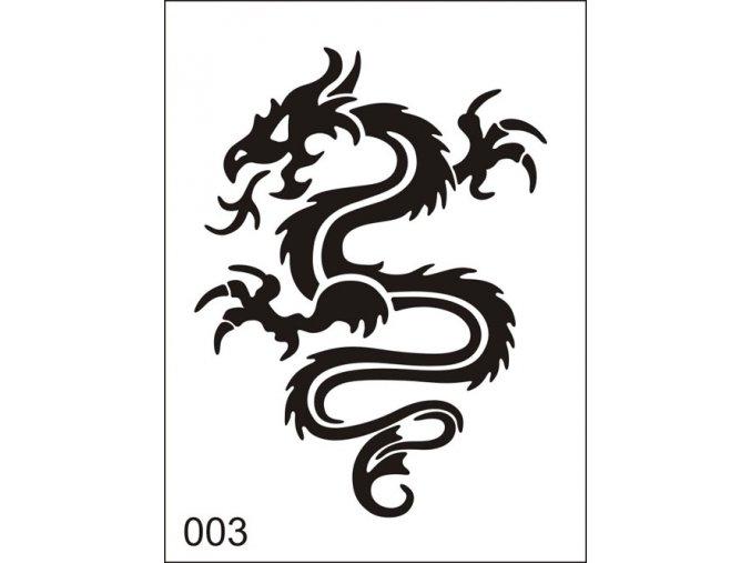 Airbrush tetoválási sablon egyetlen használatra M003