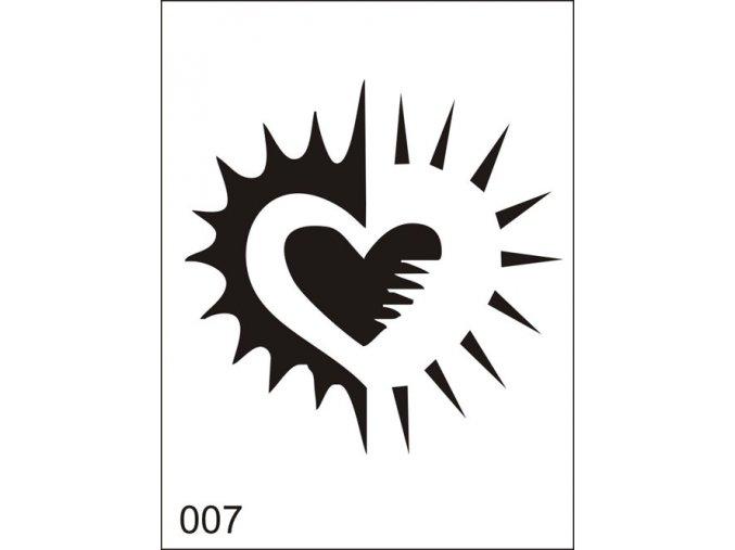 Airbrush tetoválási sablon egyetlen használatra M007