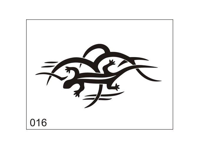 Airbrush tetoválási sablon egyetlen használatra M016