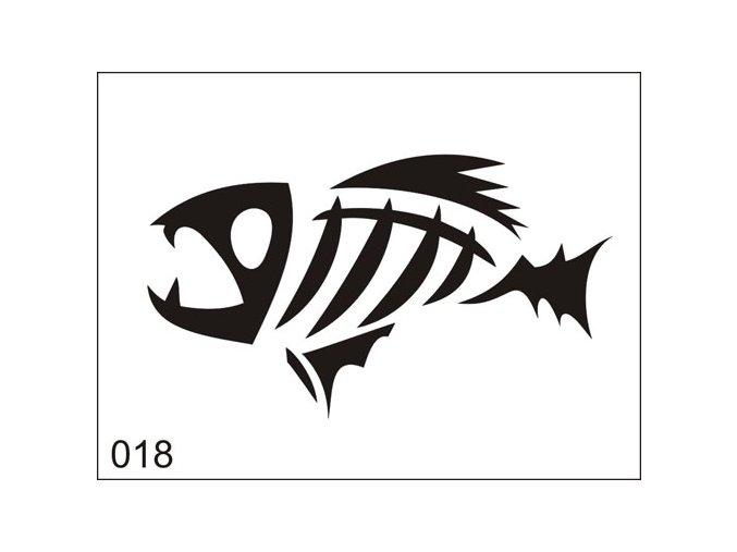 Airbrush tetoválási sablon egyetlen használatra M018