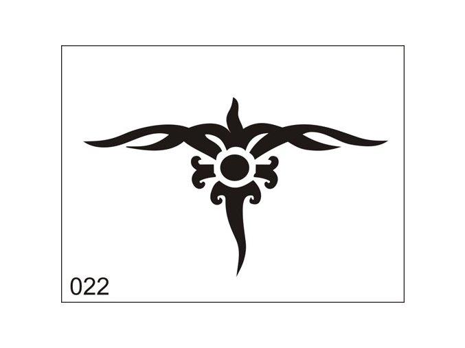 Airbrush tetoválási sablon egyetlen használatra M022