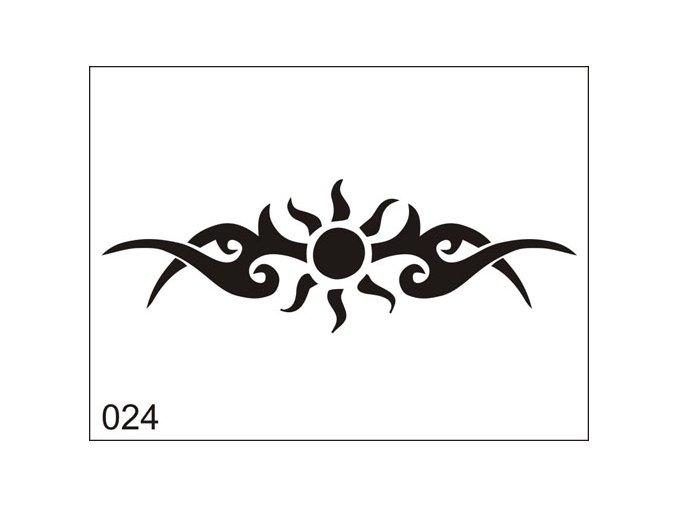 Airbrush tetoválási sablon egyetlen használatra M024