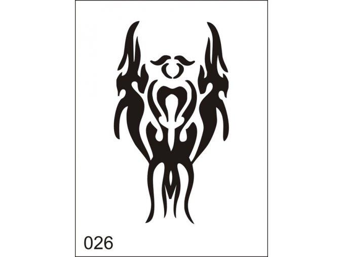 Airbrush tetoválási sablon egyetlen használatra M026