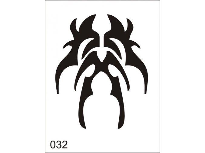 Airbrush tetoválási sablon egyetlen használatra M032
