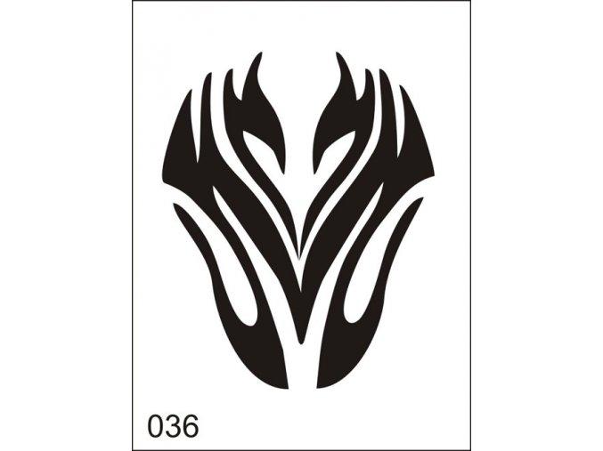 Airbrush tetoválási sablon egyetlen használatra M036
