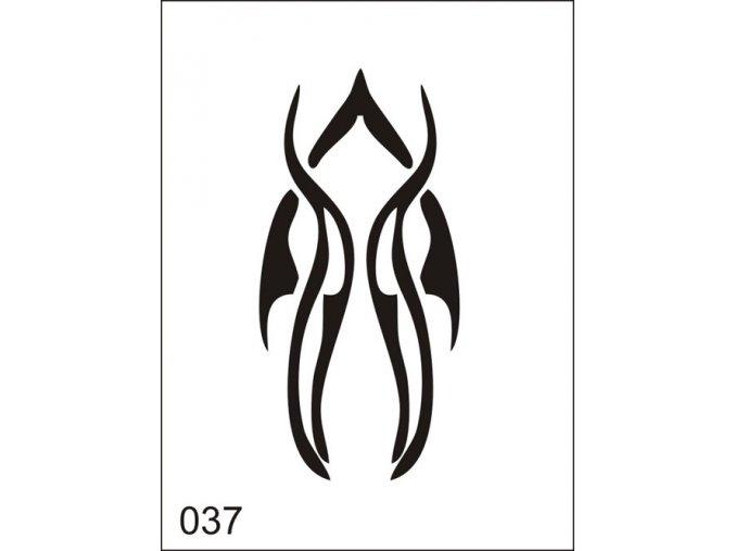 Airbrush tetovalasi sablon egyetlen hasznalatra M037