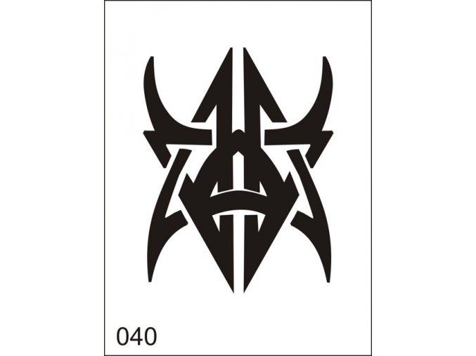 Airbrush tetoválási sablon egyetlen használatra M040
