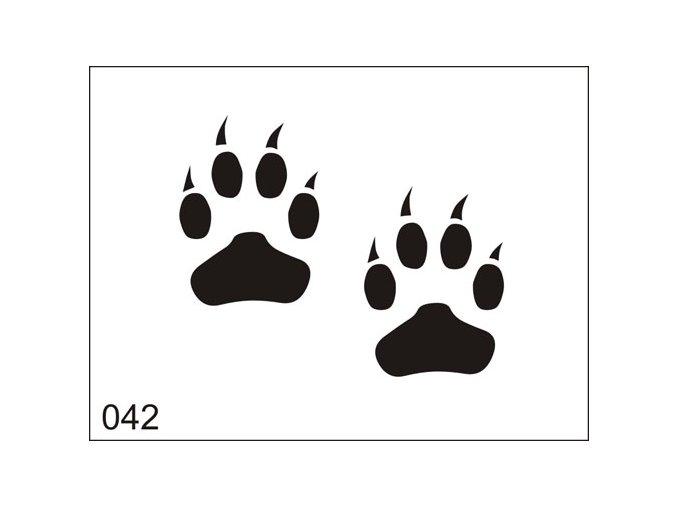 Airbrush tetoválási sablon egyetlen használatra M042