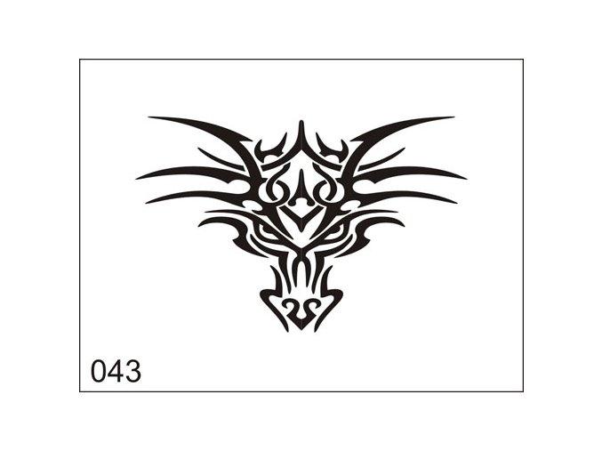 Airbrush tetoválási sablon egyetlen használatra M043