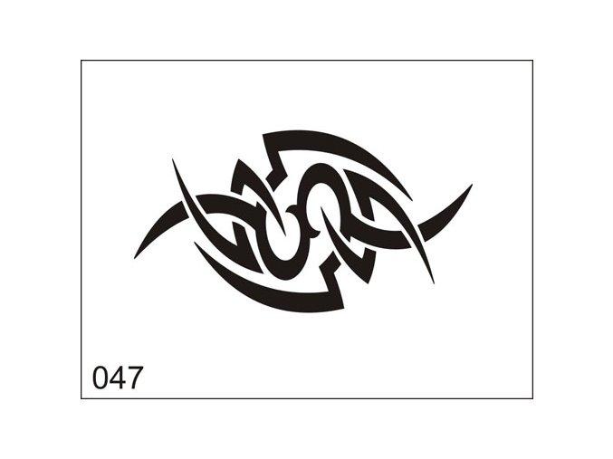 Airbrush tetoválási sablon egyetlen használatra M047