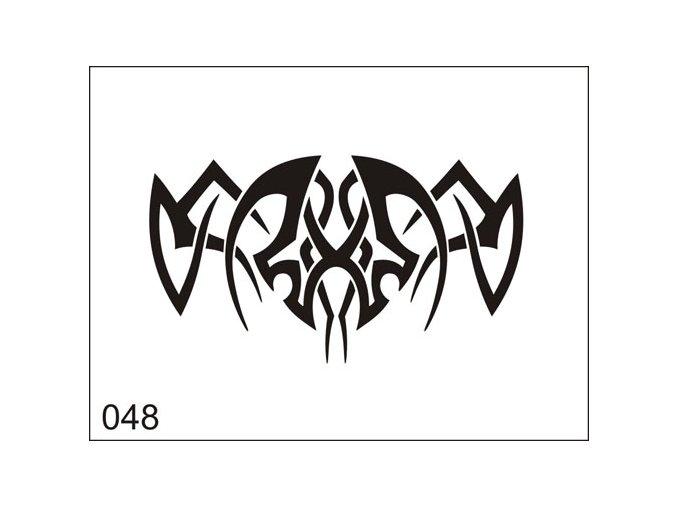 Airbrush tetoválási sablon egyetlen használatra M048