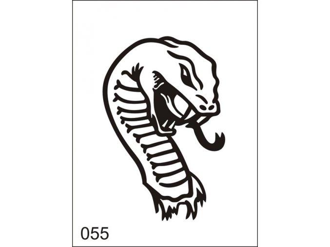 Airbrush tetoválási sablon egyetlen használatra M055