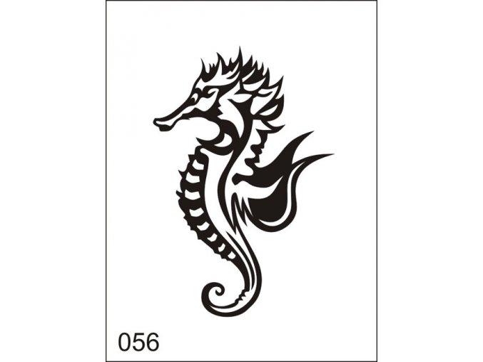 Airbrush tetoválási sablon egyetlen használatra M056