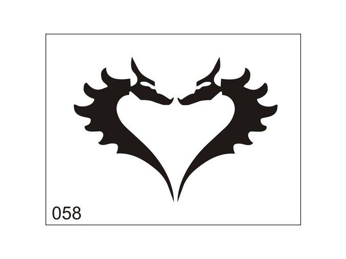 Airbrush tetoválási sablon egyetlen használatra M058