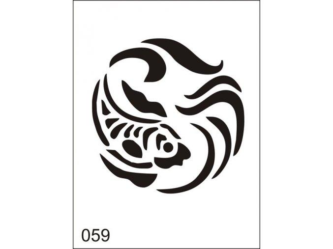 Airbrush tetoválási sablon egyetlen használatra M059