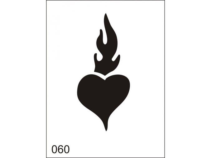 Airbrush tetoválási sablon egyetlen használatra M060