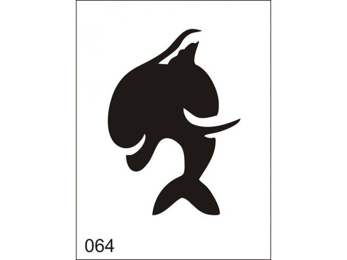 Airbrush tetoválási sablon egyetlen használatra M064