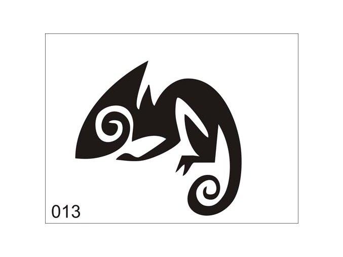 Airbrush tetoválási sablon egyetlen használatra V013