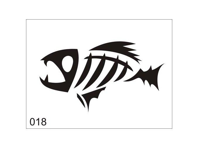 Airbrush tetoválási sablon egyetlen használatra V018