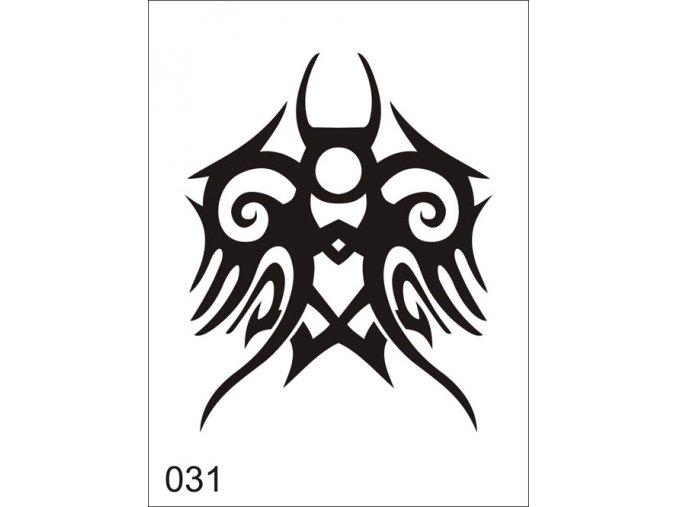 Airbrush tetoválási sablon egyetlen használatra V031