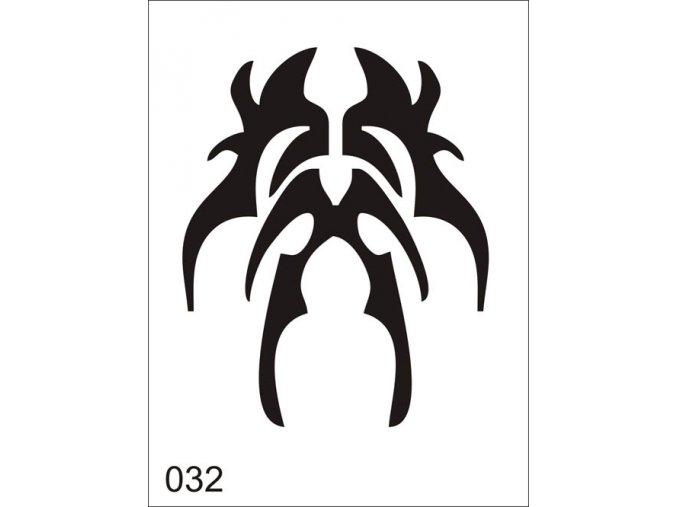 Airbrush tetoválási sablon egyetlen használatra V032