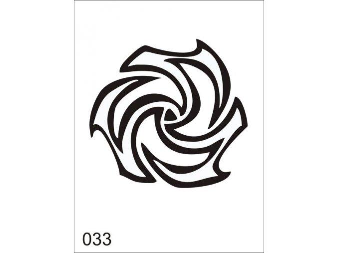 Airbrush tetoválási sablon egyetlen használatra V033