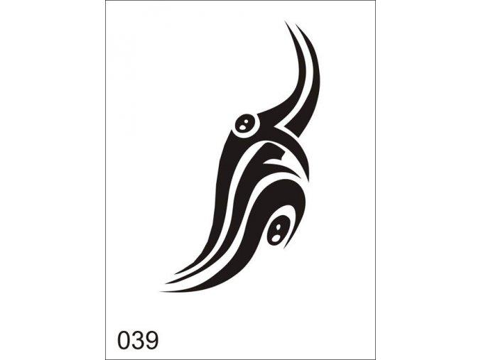 Airbrush tetoválási sablon egyetlen használatra V039