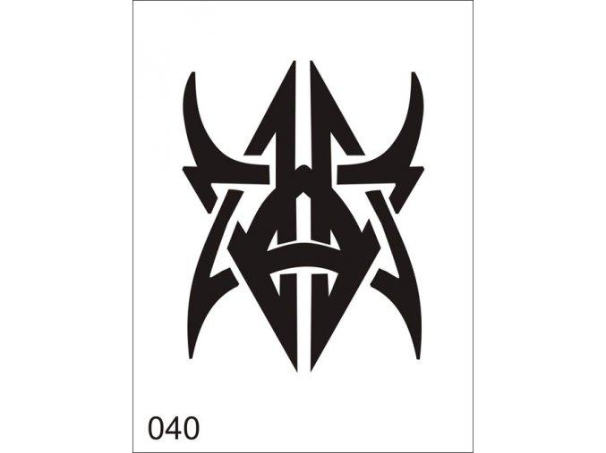 Airbrush tetoválási sablon egyetlen használatra V040