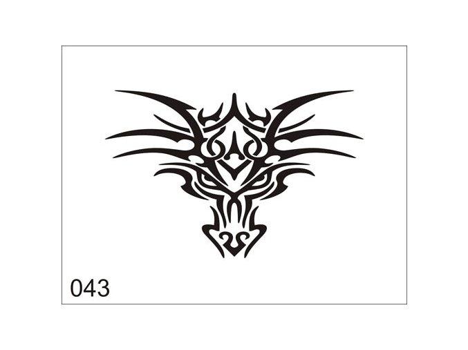 Airbrush tetoválási sablon egyetlen használatra V043