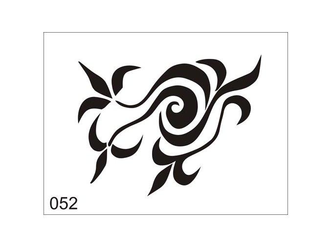 Airbrush tetoválási sablon egyetlen használatra V052