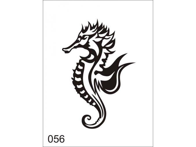 Airbrush tetoválási sablon egyetlen használatra V056