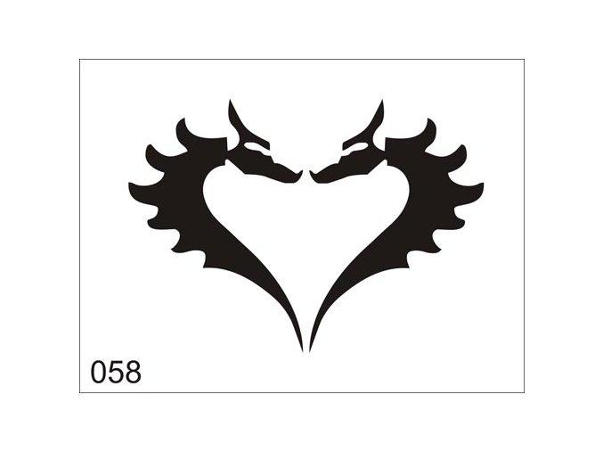 Airbrush tetoválási sablon egyetlen használatra V058