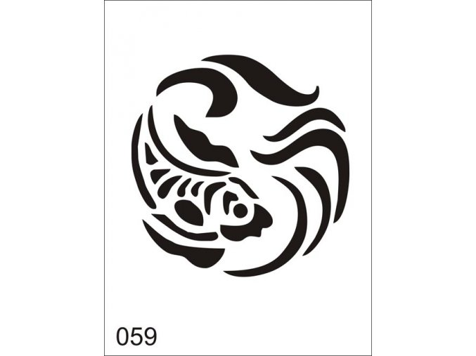 Airbrush tetoválási sablon egyetlen használatra V059