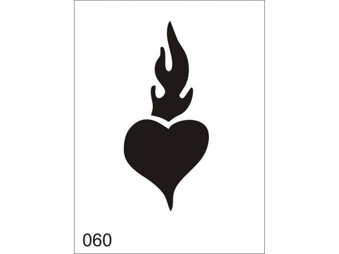 Airbrush tetoválási sablon egyetlen használatra V060