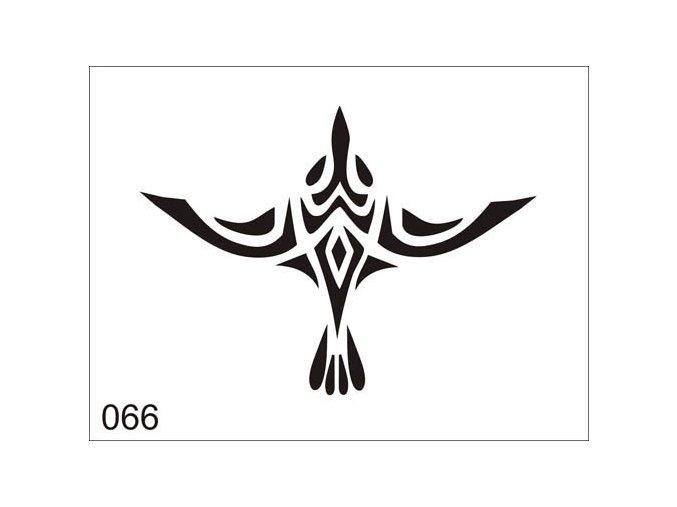 Airbrush tetoválási sablon egyetlen használatra V066
